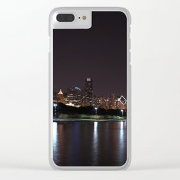 Chicago night skyline, Usa. Clear iPhone Case