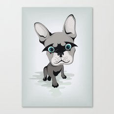 Bat French BullDog Canvas Print