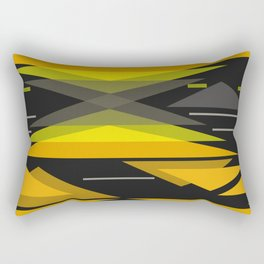 Black and yellow abstract geometric pattern . Rectangular Pillow
