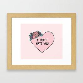 I Don't Hate You Framed Art Print