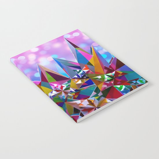 Festive colorful crystals Notebook