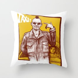 Taxi! Throw Pillow