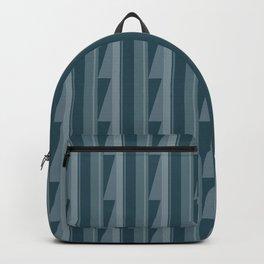Modern Geometric Pattern 8 in Aqua Backpack