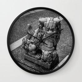 Chinese Guardian Lion Wall Clock