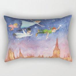 Peter Pan Sunset Nursery Decor Rectangular Pillow
