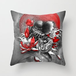 Arowana Dragon Fish Throw Pillow