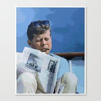 jfk Canvas Prints featuring JFK by aapshop
