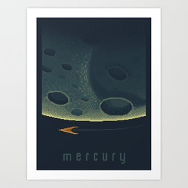 MERCURY Space Tourism Travel Poster Art Print