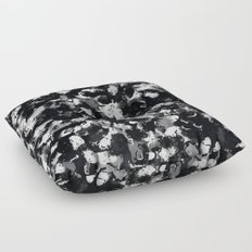 Shades of Gray and Black Oils #1979 Floor Pillow