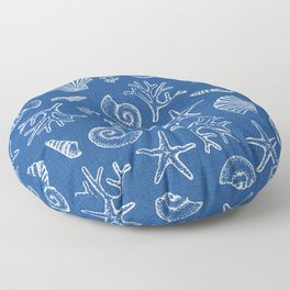 Lovely life on beach Floor Pillow