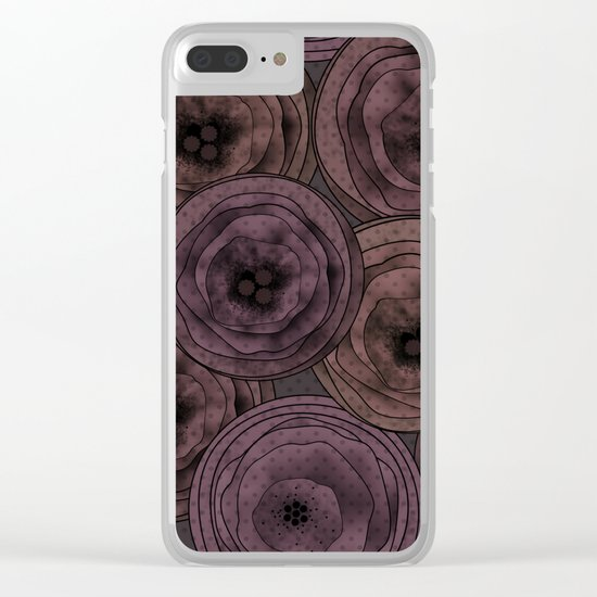 Chocolate velvet . Clear iPhone Case