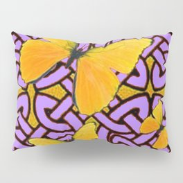 Purple celtic Abstracted butterfly  Pattern Pillow Sham