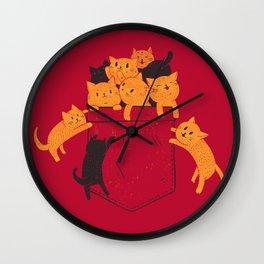 Pocket Cats Wall Clock