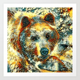AnimalArt_Bear_20170604_by_JAMColorsSpecial Art Print