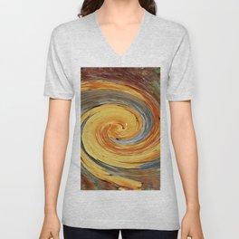 Swirl 03 - Colors of Rust / RostArt Unisex V-Neck