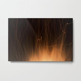 Sparks from a Bonfire Metal Print
