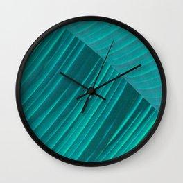 Banana Leaf Abstract Wall Clock