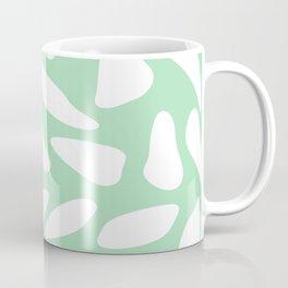 White pebbles on mint Coffee Mug