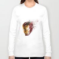 ironman Long Sleeve T-shirts featuring Ironman by EnragedPeasant