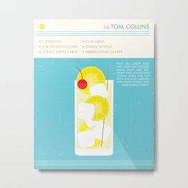 Tom Collins Cocktail Art Print Metal Print