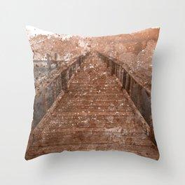 Acrylic Sepia Pier Throw Pillow