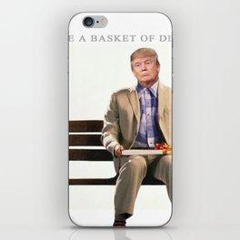 Forrest Gump Parody Of Donald Trump iPhone Skin