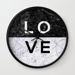 Love B&W Wall Clock