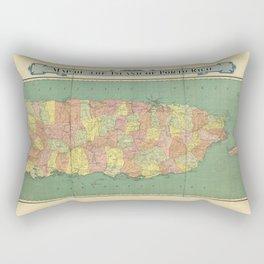 Map of Puerto Rico (Porto Rico) circa 1915 Rectangular Pillow