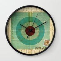 grace Wall Clocks featuring Grace by Michael Jon Watt