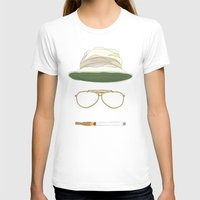 fear and loathing T-shirts featuring Movie Icons: Fear and Loathing in Las Vegas by Raquel Sanchis