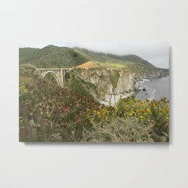 PCH Pacific Coast Highway Metal Print