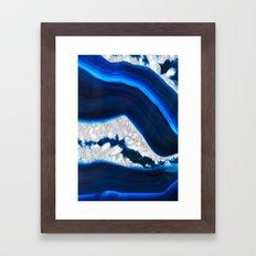 Electrical Agate Framed Art Print