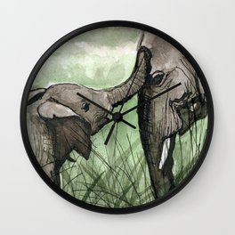 Elephant Compassion Wall Clock