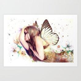 Sleeping Fairy Art Print