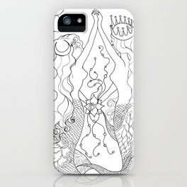 Two mermaids, many pearls iPhone Case