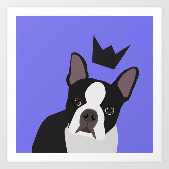 Royal Boston Terrier Art Print