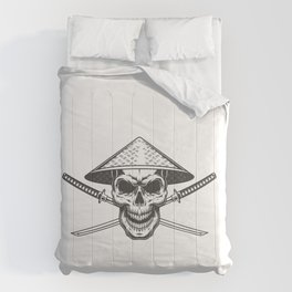 Vintage Skull Chinese Conical Straw Comforters