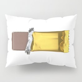 Chocolate candy bar in gold wrapper Pillow Sham