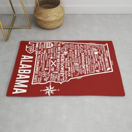 Alabama Map Rug