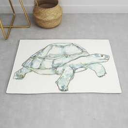 Tortoise in greens and blues Rug