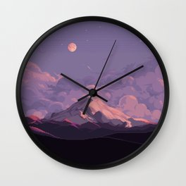 Mt Rainier Wall Clock