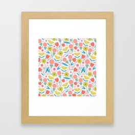 Geometric Floral Pattern Framed Art Print