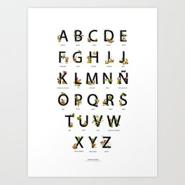 Spanish Alphabet Art Print