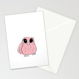 Pink Owl Stationery Cards