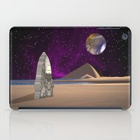 watchmen iPad Cases featuring Purple light swirls round and round thinking thoughts that make no sound by Donuts