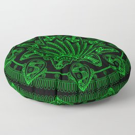 Dreamspun (Black+Lime) Floor Pillow