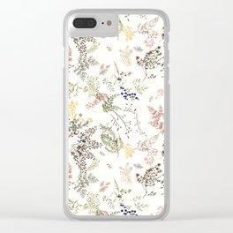 ROMANTIC ECRU FLOWERS Clear iPhone Case