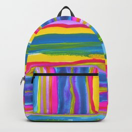 Beachy Watercolor Stripes Backpack
