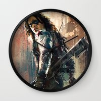 bucky Wall Clocks featuring Bucky by Wisesnail