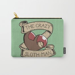 Crazy Sloth Man Tattoo Carry-All Pouch